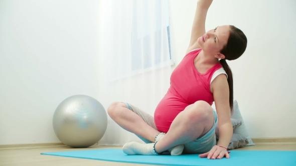 Pregnant Girl Meditating