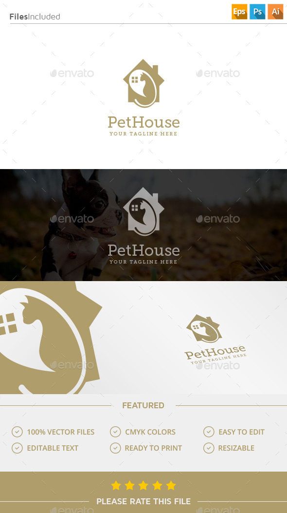 GraphicRiver Pet House Logo 11916368