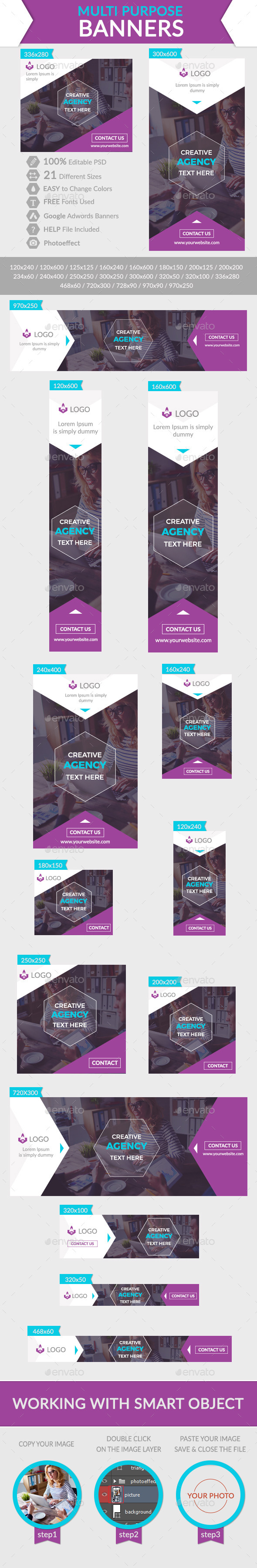 GraphicRiver Multi Purpose Banners 11916434