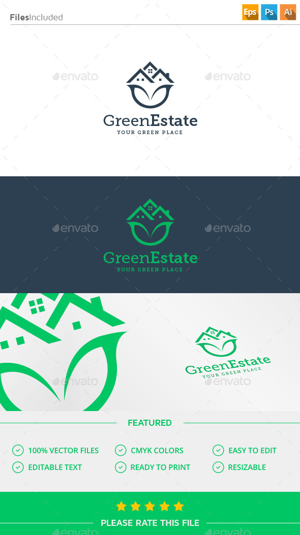 GraphicRiver Green House Logo 11916472