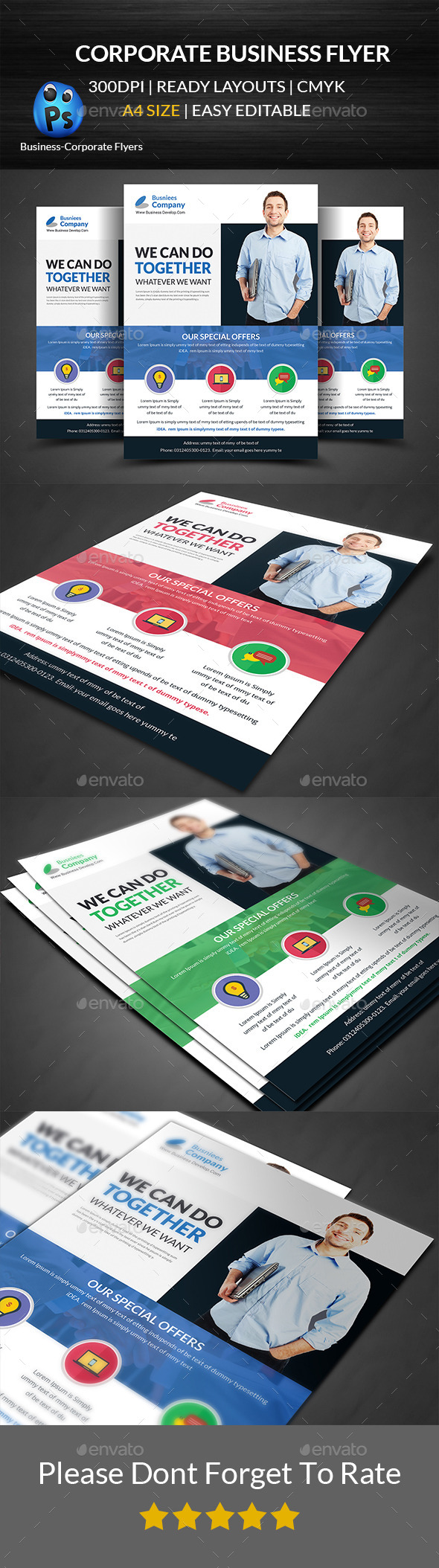 GraphicRiver Corporate Business Flyer Template 11916530