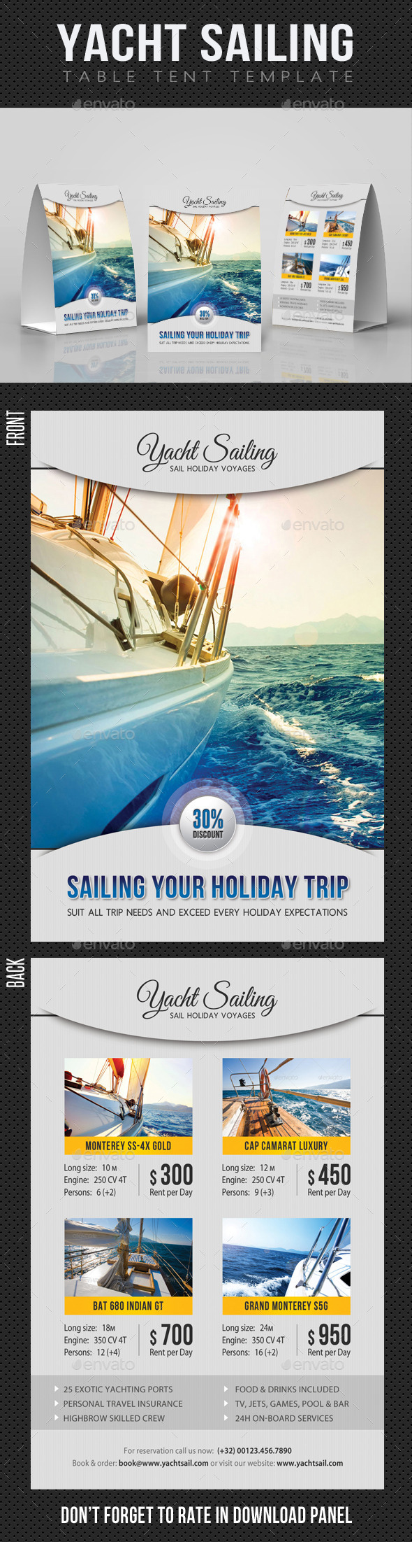 GraphicRiver Sailing Yacht Travel Table Tent V01 11893515