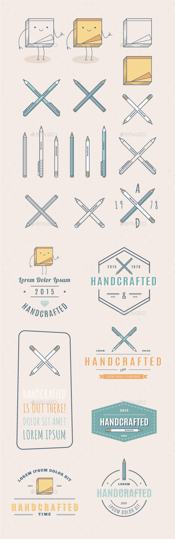 GraphicRiver Trendy Retro Vintage Insignias and Logo 11918076