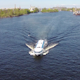 Aerial View to High-Speed Hydrofoil Boat - VideoHive Item for Sale