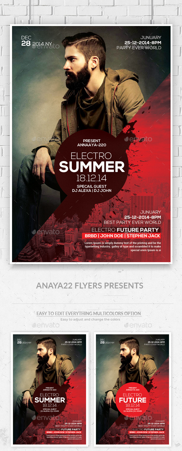 GraphicRiver Electro Future Concert Dj Flyer 11918341