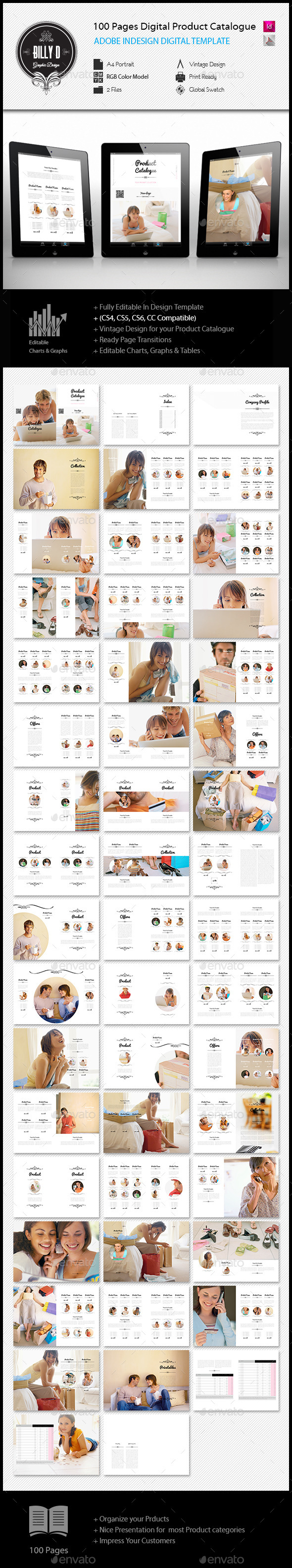 GraphicRiver 100 pages A4 Digital Product Catalogue Template 11909003