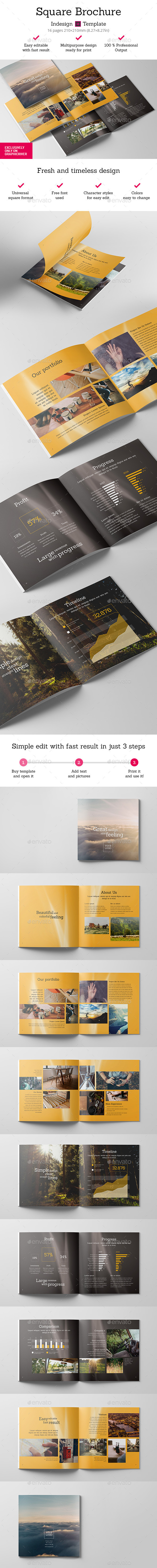 GraphicRiver Square Brochure Indesign Template 11918753