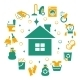 Household Cleaning Icons Set - GraphicRiver Item for Sale