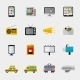 Flat Media Icons - GraphicRiver Item for Sale