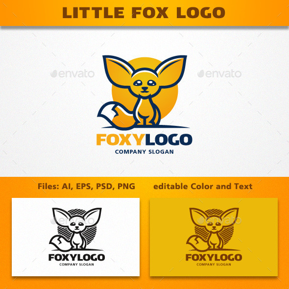 GraphicRiver Little Fox Logo 11919913
