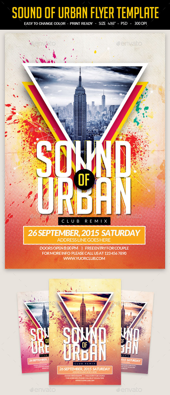 GraphicRiver Sound Of Urban Flyer Template 11919928