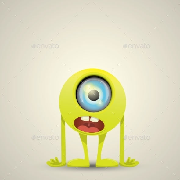 GraphicRiver Green Cartoon Monster 11919930