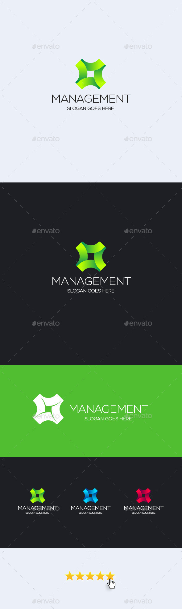 GraphicRiver Management Logo Template 11919948