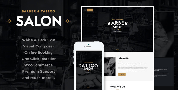 14 - Salon | Barbershop & Tatoo WordPress Theme