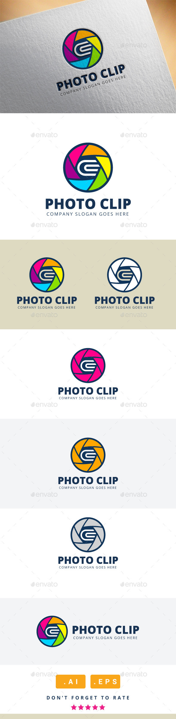 GraphicRiver Photo Clip Logo 11920418
