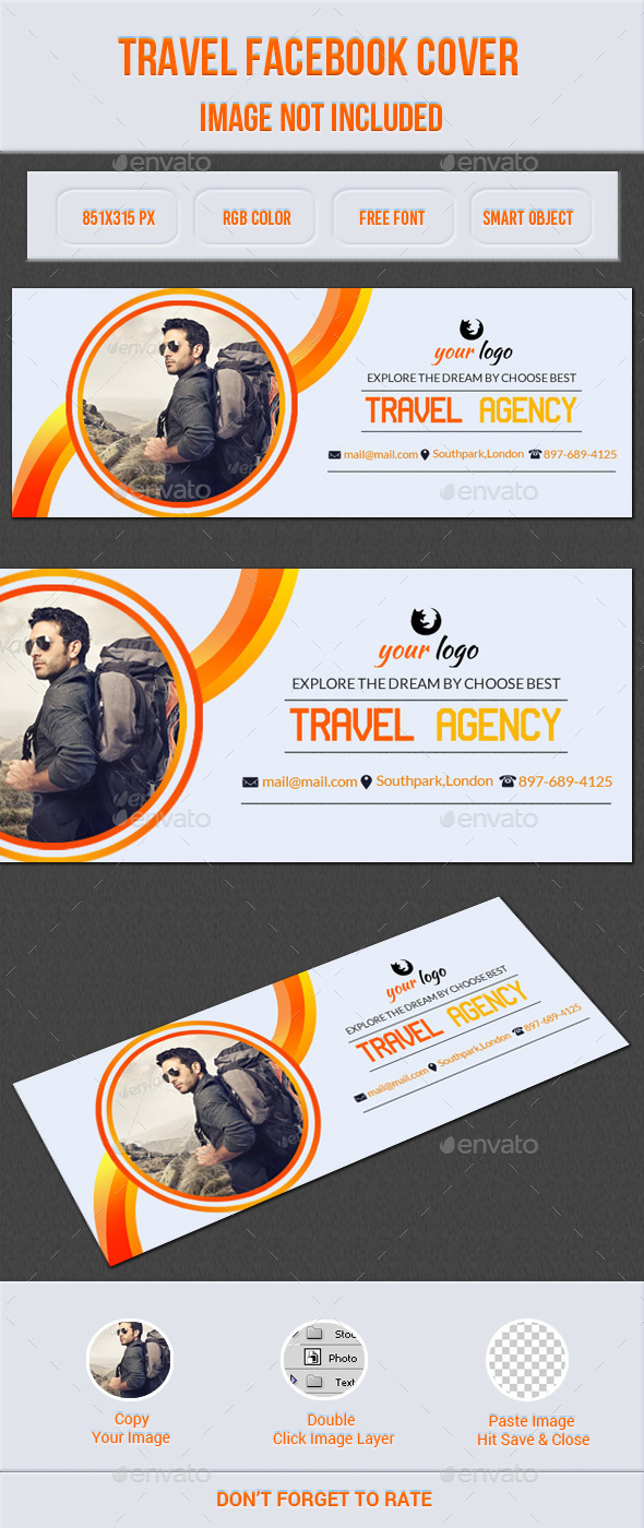 GraphicRiver Travel Facebook Cover 11920448