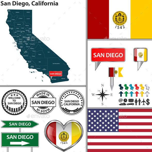 GraphicRiver San Diego California 11920556