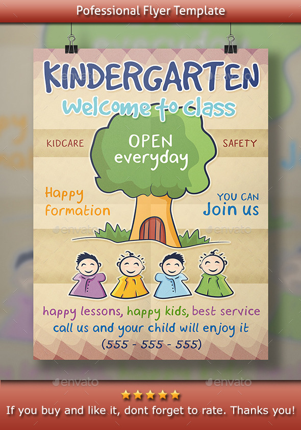 GraphicRiver Kindergarten Flyer 11920759
