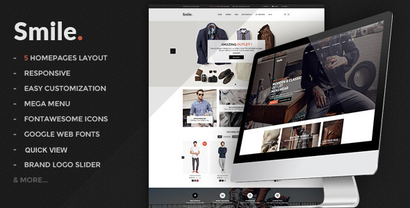 Smile – HTML E-commerce Template (Shopping) Download