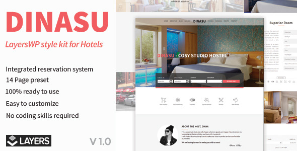 CodeCanyon Dinasu LayersWP Style Kit for Hotels 11646009