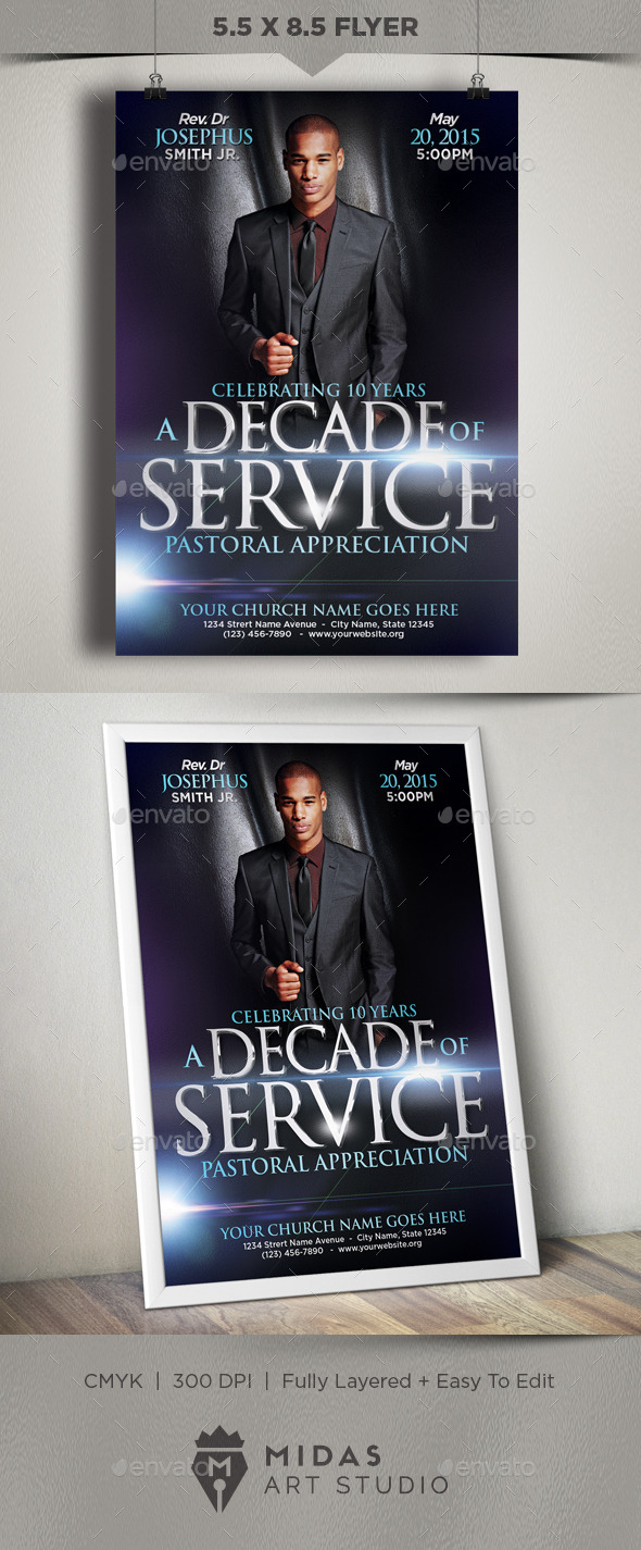 GraphicRiver Church Flyer Template 11921180