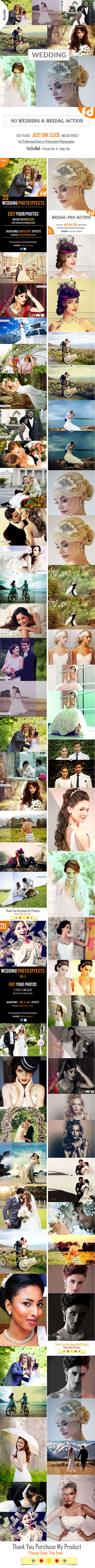 GraphicRiver 60 Wedding & Bridal Actions Bundle 11921214