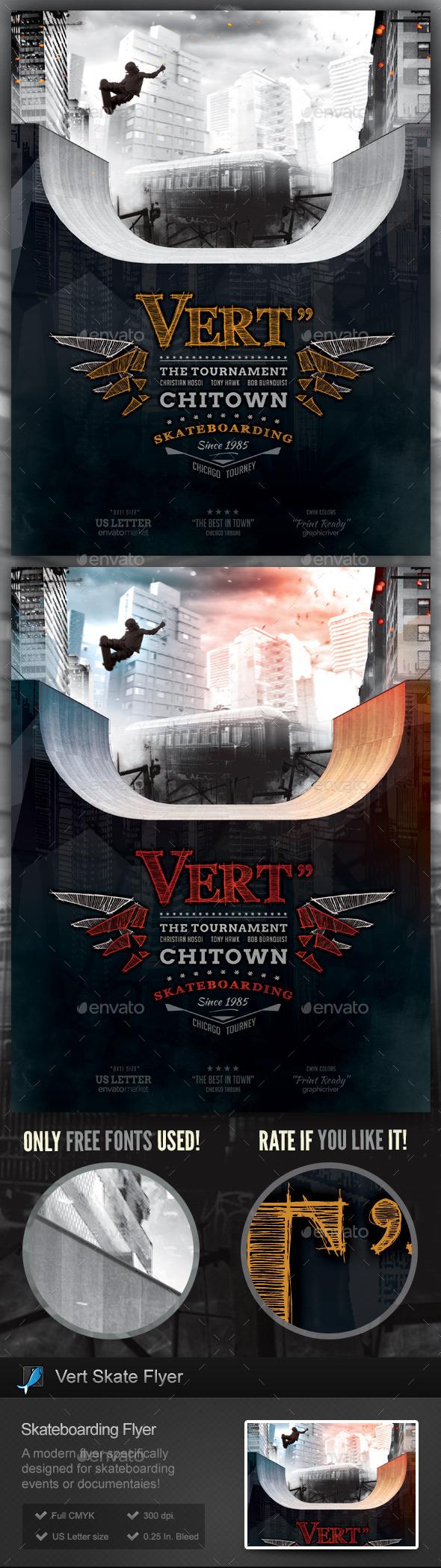 GraphicRiver Vert Skate Skateboarding Flyer Template 11921279