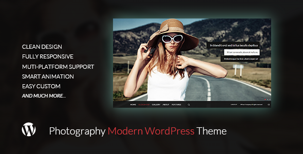 ThemeForest Pinetree Photography Modern WordPress Theme 11620374