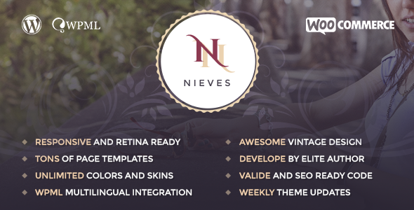 ThemeForest Nieves Beauty Salon WordPress Theme 11816875