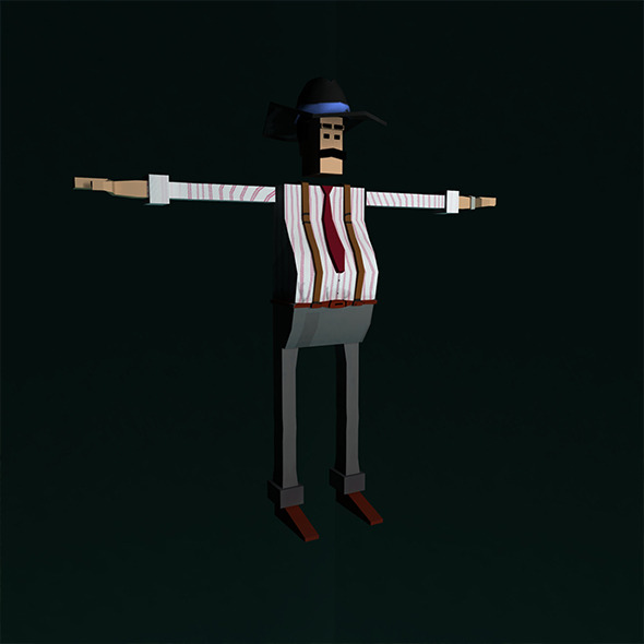 3DOcean Low Poly Character Rigged Boss 11922102