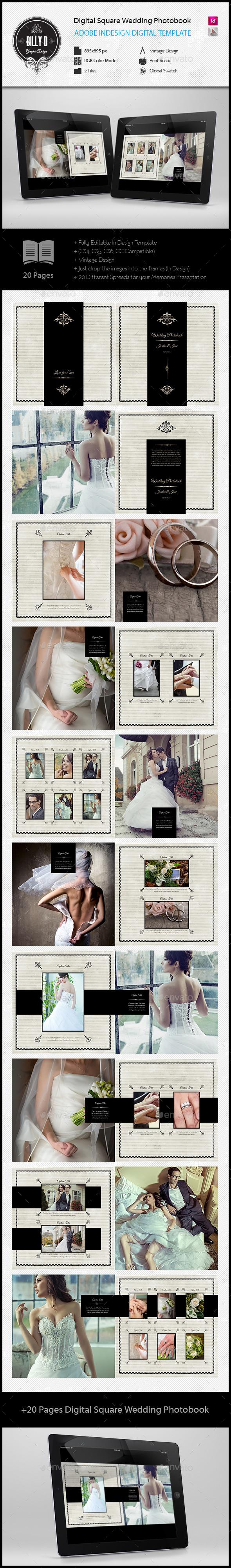 GraphicRiver Digital Square Wedding Photobook Template 11912162