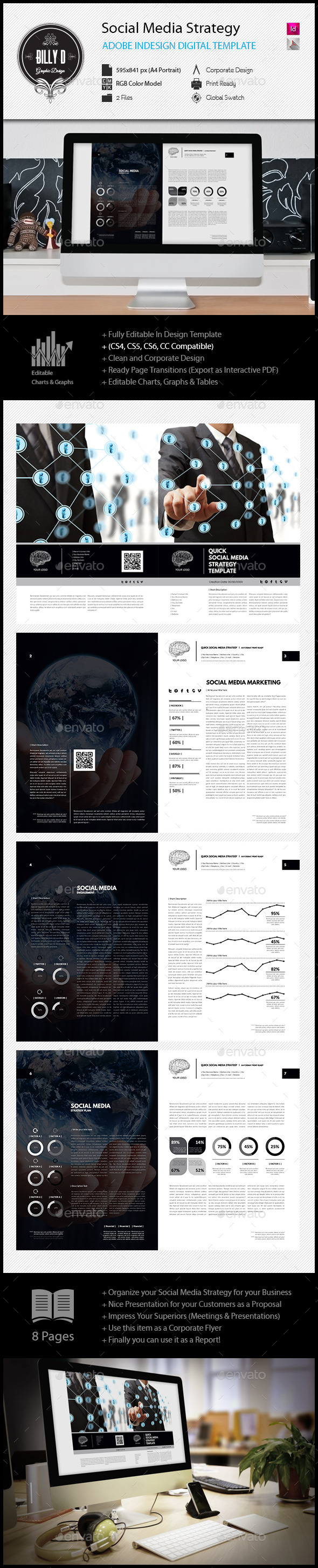 GraphicRiver Social Media Strategy Digital Template 11918082