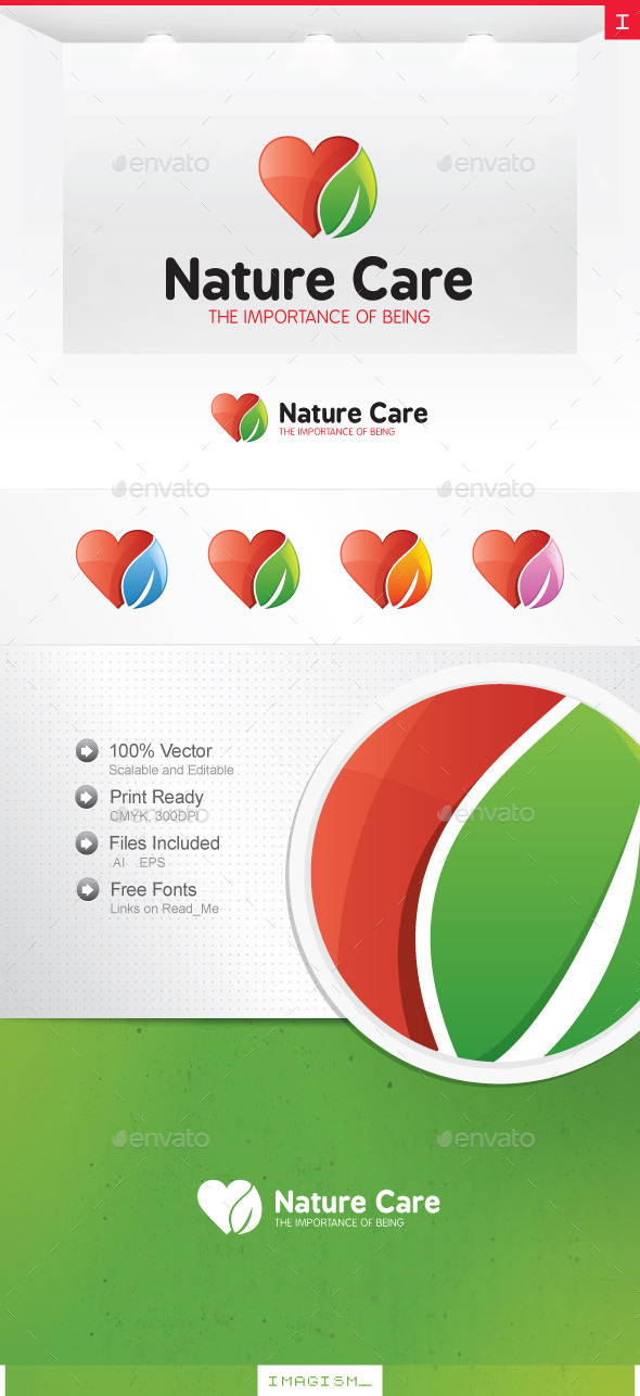 GraphicRiver Nature Care Logo 11922154
