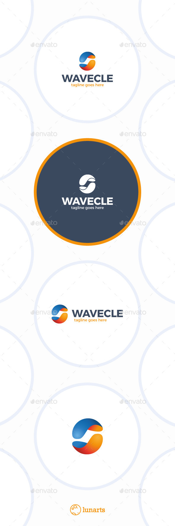 GraphicRiver Media Wave Logo Circle 11922276
