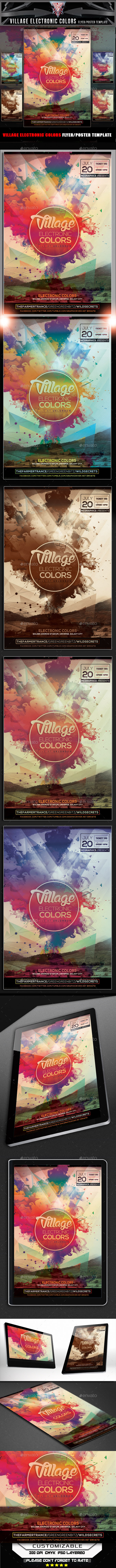 GraphicRiver Village Electronic Colors Flyer Template 11922344