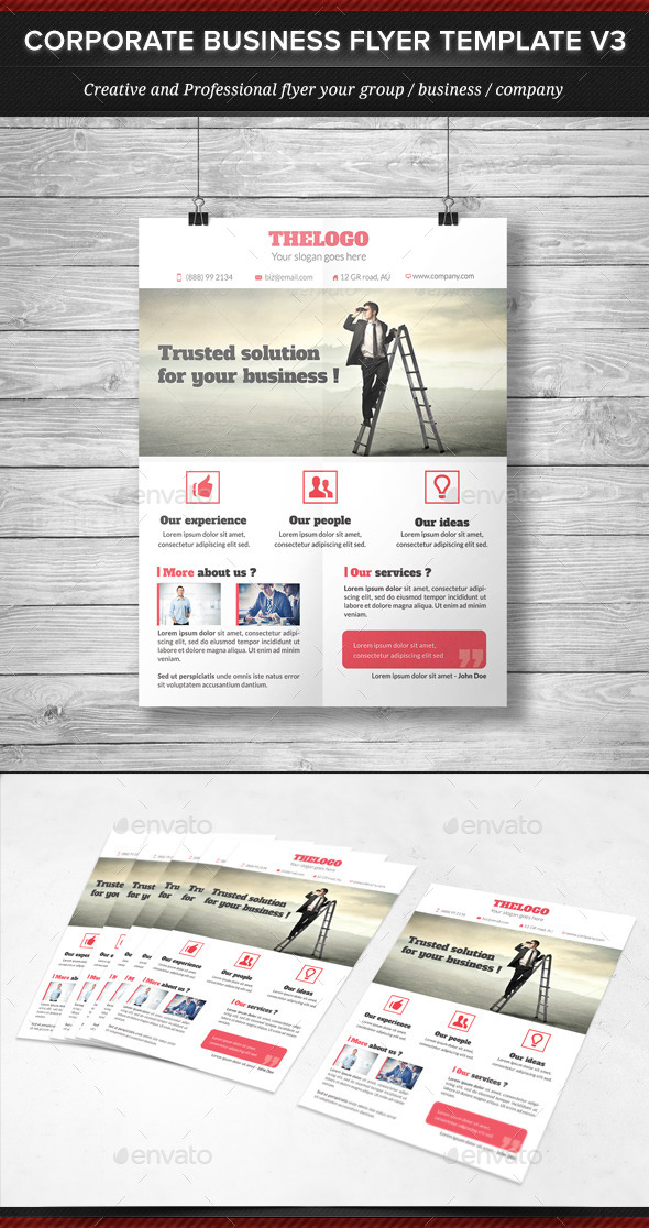 GraphicRiver Corporate Business Flyer Template V3 11922602