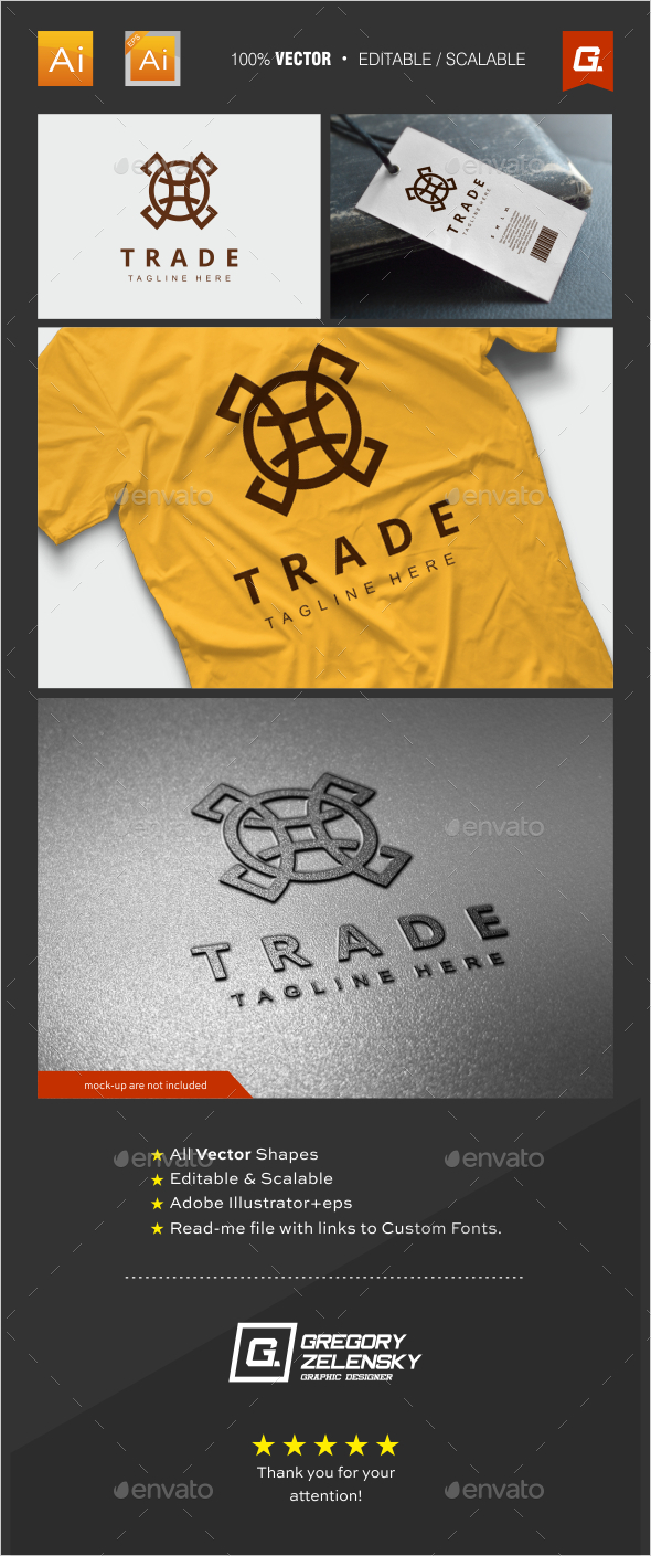 GraphicRiver Trade Logo Template 11922620