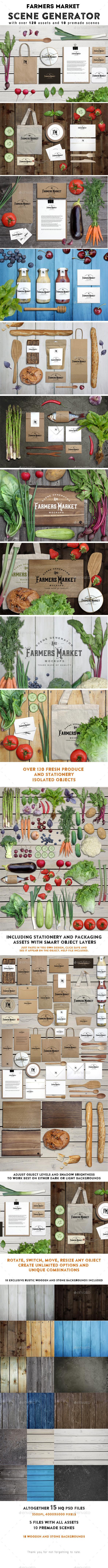 GraphicRiver Farmers Market Scene Generator 11831400