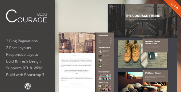 Courage – WordPress Creative Blog Theme (Personal) Download