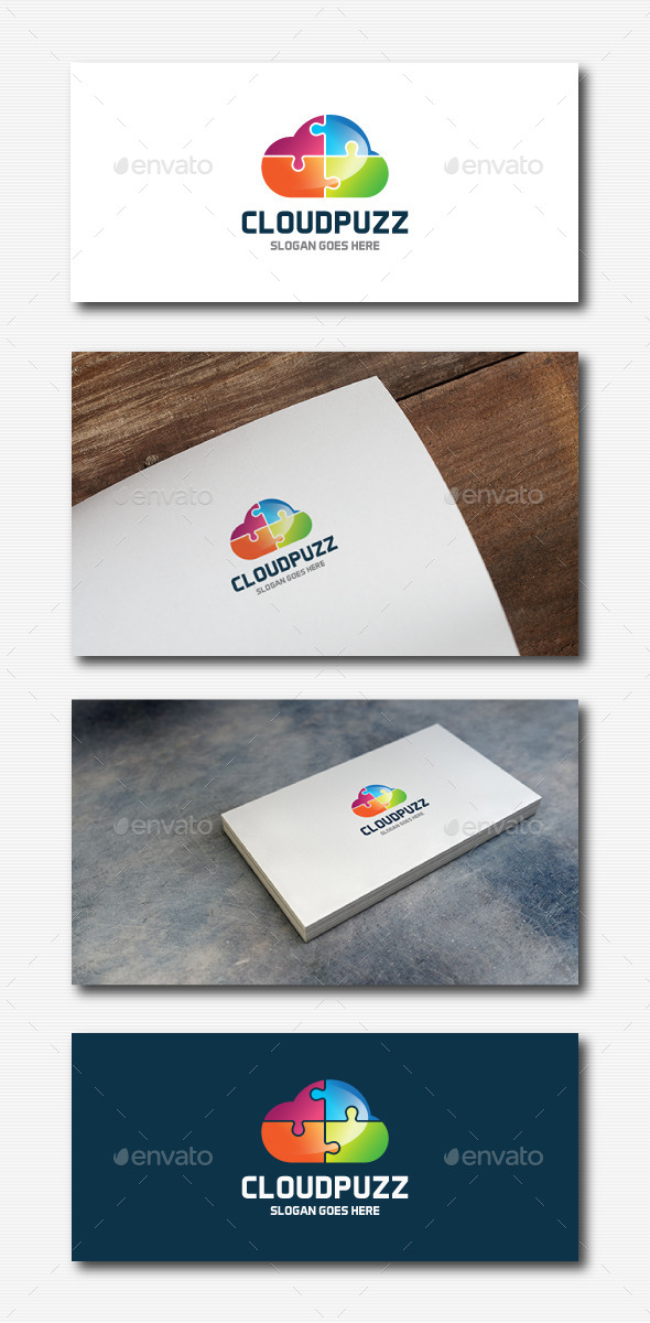 GraphicRiver Cloud Puzzle Logo 11923057