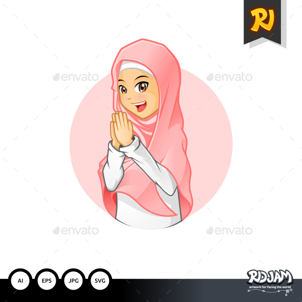 GraphicRiver Muslim Girl 1 11923060