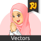 Muslim Girl with Welcoming Arms Wearing Pink Veil