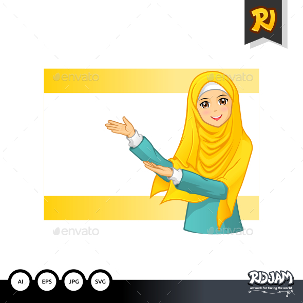 GraphicRiver Muslim Woman 1 11923061