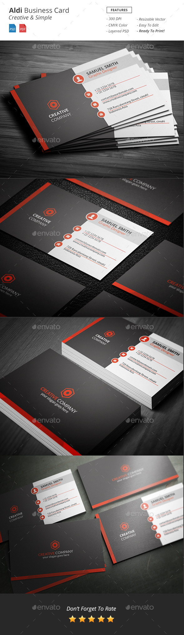 GraphicRiver Aldi Creative Business Card 11923064