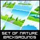 Amazing Green Landscape Backgrounds Set - GraphicRiver Item for Sale