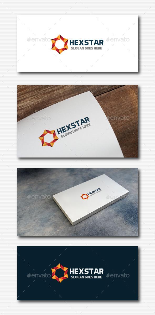 GraphicRiver Hexagon Star Logo 11923070