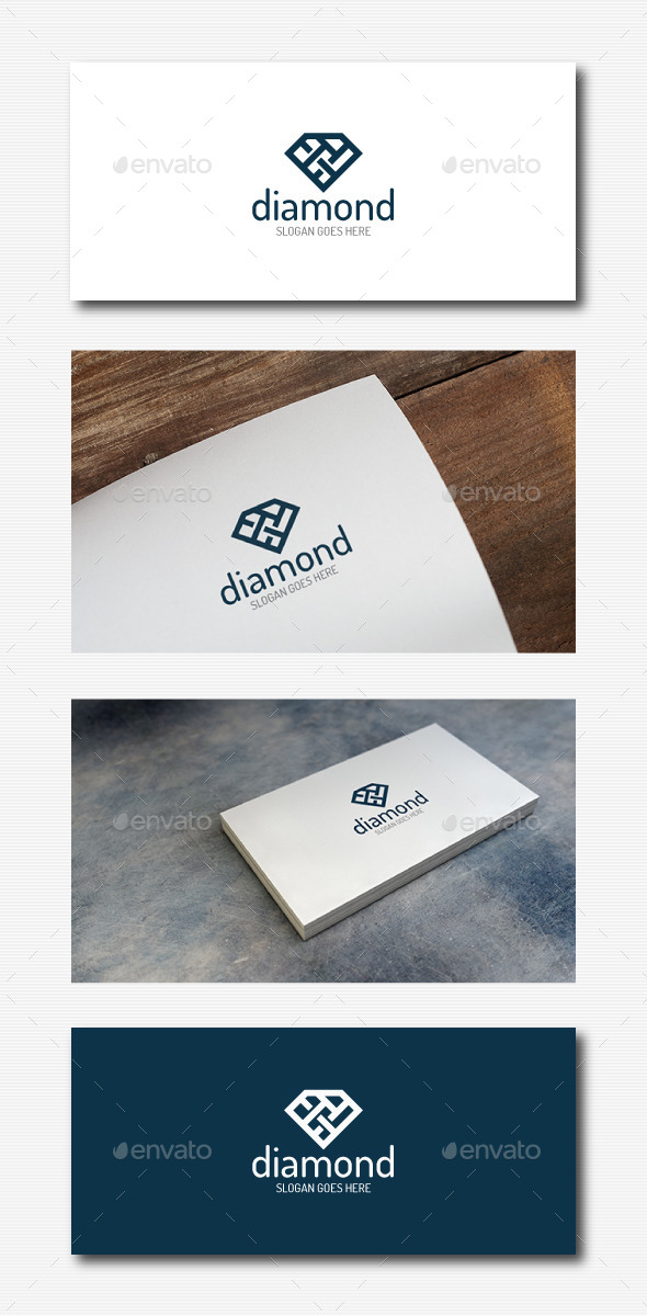 GraphicRiver Stylish Diamond Logo 11923096