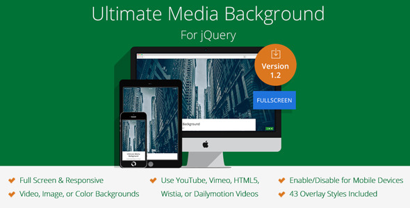 Ultimate Media Background for jQuery (Media) Download
