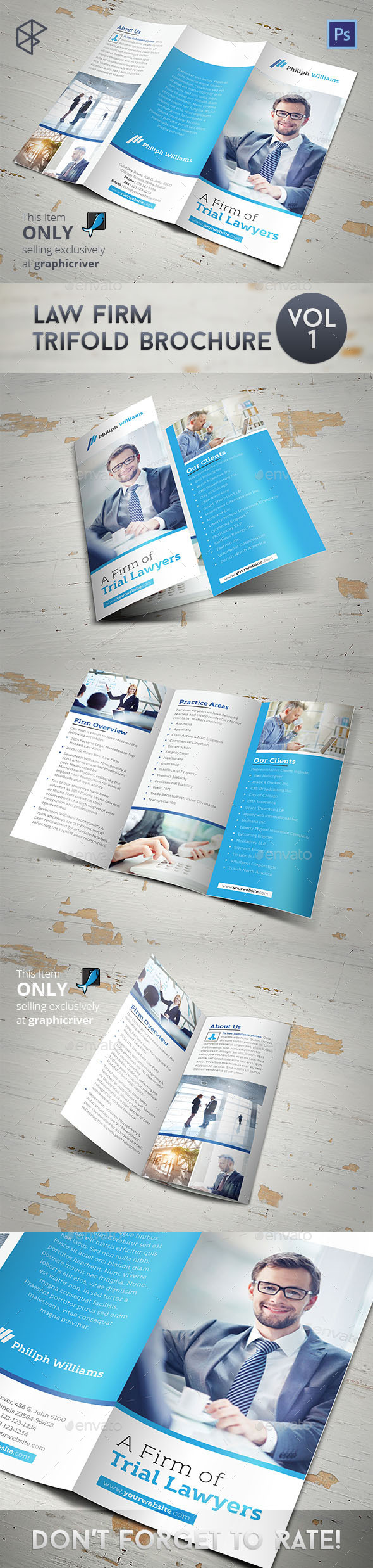 GraphicRiver Law Firm Trifold Brochure 11923607