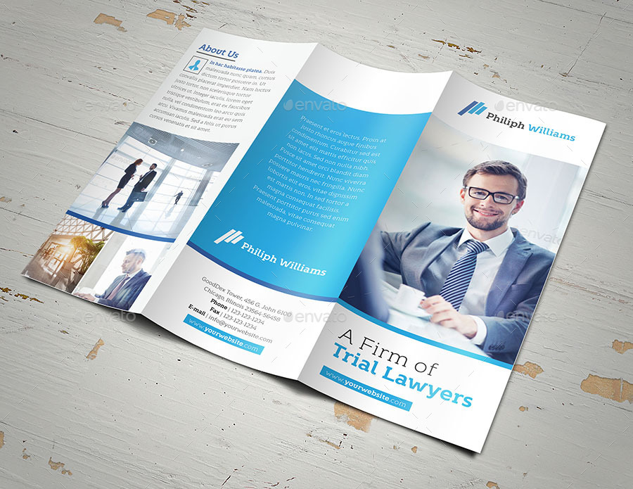 Law Firm Trifold Brochure by fathurfateh – Law Firm Brochure